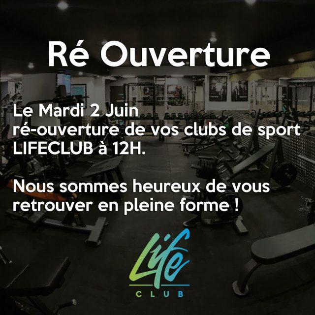 reouverture salle de sport lifeclub